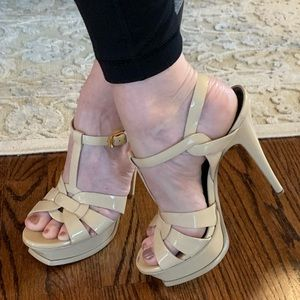 YSL Yves Saint Laurent Tribute heels nude 38 7 1/2